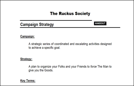 Ruckus Society Strategic Planning Guide
